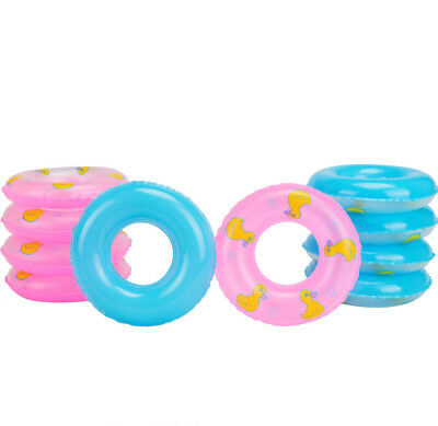 Mini Swim Ring Swimming Pool Float Raft Lilo Lifebuoy Summer For Barbie Doll