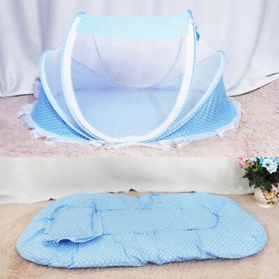 Baby Infant Portable Foldable Travel Bed Crib Canopy Mosquito Point Net Mattress