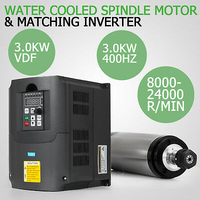 3Kw Water Cooled Spindle Motor 3Kw Vfd  Variable Milling Mill Grind Hot Product