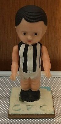 Vintage Plastic Cake Topper/figurine Collingwood Player With Movable Arms