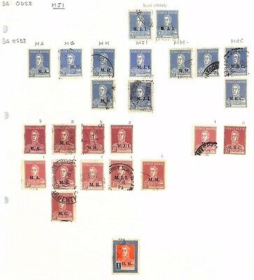 SA1121 ARGENTINA Official Overprint Original Album page from oldtime collection