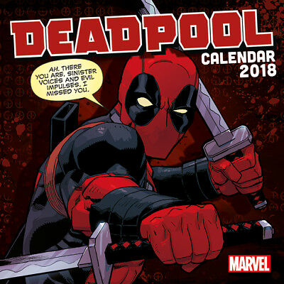 Deadpool 2018 Monthly Calendar Official Marvel Comics Film Movie X-Men