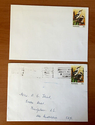 1978 20 cent Kookaburra Australian Pre Stamped Envelope Set - Mint and Used