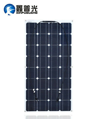 100W Flexible Solar Panel Mono Cell Module Yacht RV Boat 12V Battery Car Charger
