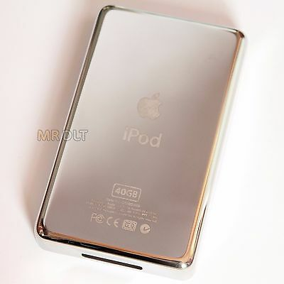 40GB Silver iPod Photo Thick Back Housing 4th Generation Metal Cover Panel UK