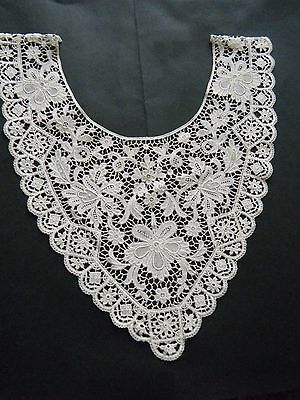 ANTIQUE vtg Collar combo lace BELGIAN BRUSSELS DUCHESS LACE