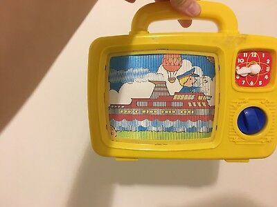 Vintage Retro Redbox Baby toy Wind Up Musical Moving TV