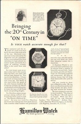 Hamilton Pocket Watch Decagon Design Wrist Watch Vintage Ad 1939
