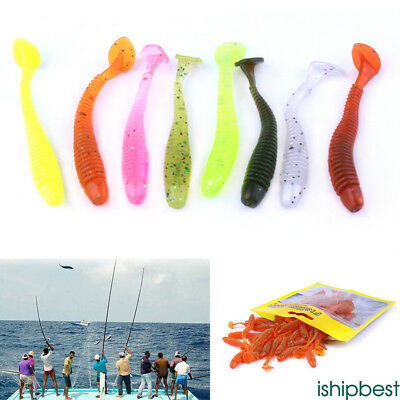 50Pcs Fishing Lures Spinners Plugs Spoons Soft Bait Pike Trout Salmon+Box Set