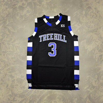 Luca Scott Movie Basketball Jersey 3# One Tree Hill Stitched Navy White