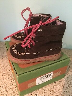 Nib Livie And Luca Hopper Size 4 Toddler Girls Mocha Brown Boots Shoes