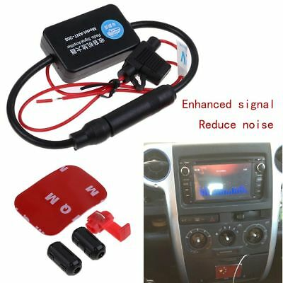 Car Stereo Radio Inline Antenna Aerial AM & FM Signal Amplifier Booster ANT-208