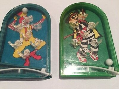 McDonalds's Pinball Toys 1993 Ronald And Hamburglar