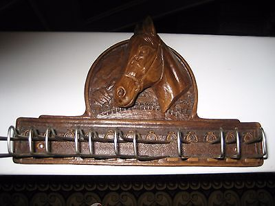 Vintage Syrocco Horse Head Tie Rack And Belt Holder