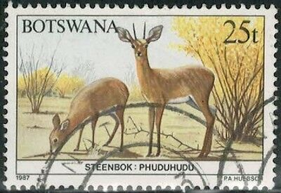 Lot 4211  - Botswana - 1987 25 thebe multicoloured Steenbok used stamp
