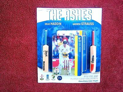 THE ASHES  2011 No. 4  MINI CRICKET BAT & PLAYER  CARD COLLECTION  UNOPENED