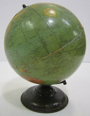 Vintage Replogle WW2 Era 10 Inch Standard World Globe Clear Accurate Up To Date