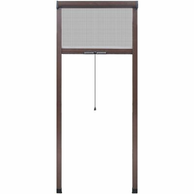 vidaXL Brown Roll Down Insect Screen For Windows 80 X 170 Cm