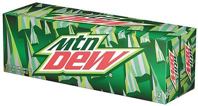 Mountain Dew Original - AMERICAN IMPORT SODA 12 Pack (12x 355ml cans)