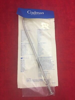 "NEW CODMAN Adson Suction Tube Curved 15FR 9"" 70-1148 Stainless Steel"
