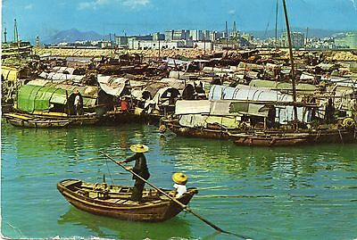 CAUSEWAY BAY TYPHOON SHELTER  HONG KONG  continental size chrome - used 1965