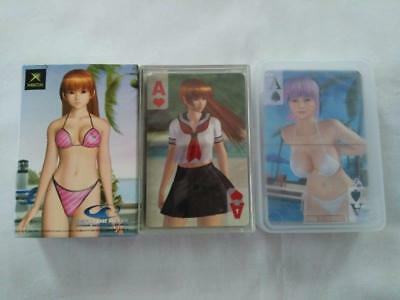 Dead Or Alive Playing Cards Lot of 3 Set Xtreme 2 .3 Xbox NEW Japan