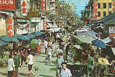 STREET MARKET  KOWLOON  HONG KONG  continental size chrome  used 1965