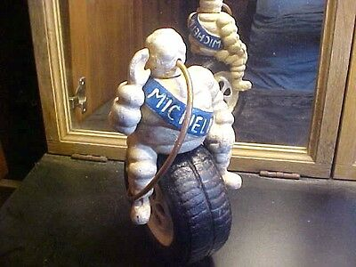 Cast Iron  Michelin Man On Tire Advertising Statue Air Compressor