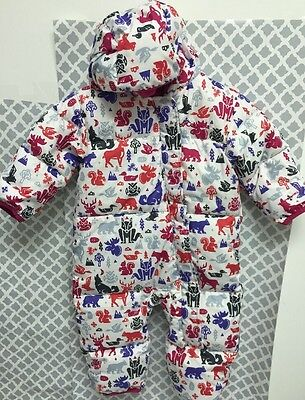 Columbia Baby Girls Snowsuit Bunting 6-12 Month Pink Woodland Critters Very Nice