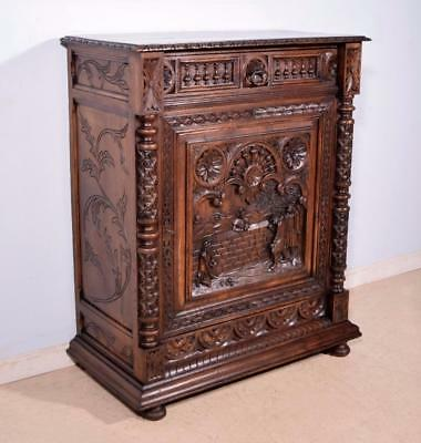 *Antique French Breton (Brittany) Sideboard/Server/Console in Solid Chestnut