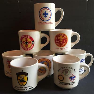 Lot of 9 Vintage Boy Scouts America BSA Coffee Mugs Cups Scenic Trails Philmont