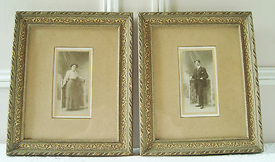 Gorgeous Pair Antique French Picture Frames Circa 1900 Photo Frames Cadres