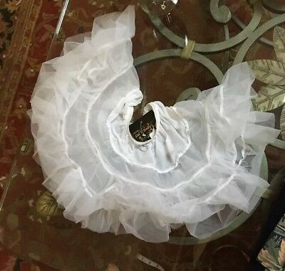 LID'L DOLLY's White Sheer Ruffled Nylon Half Slip Pageant Size 1T - 2T NWT