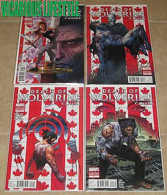 Death of Wolverine 1 2 3 4 (2014) Marvel, Canada Variants - Soule, McNiven NM