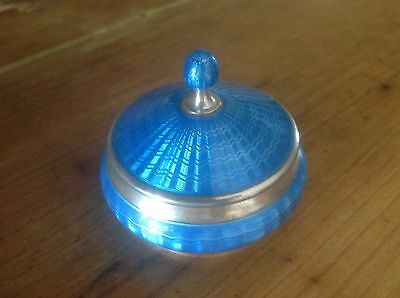 guilloche enamel sterling silver box from TK & Co VGC