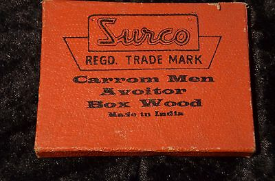 Vintage Surco REGD. Trade Mark Spielsteine incl Striker original made in India