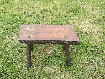 Antique Vintage Stool Milking Stool Vintage Rustic European Collectable