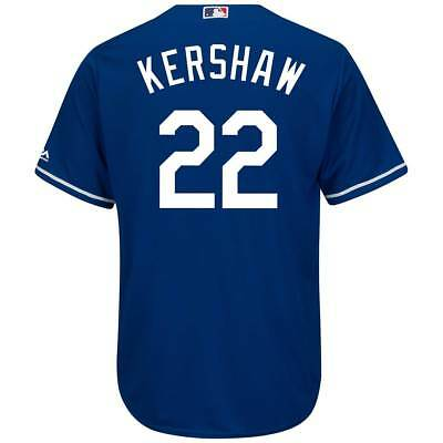 Majestic Clayton Kershaw #22 Los Angeles Dodgers Cool Base MLB Trikot Blau