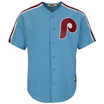 Majestic Philadelphia Phillies Cooperstown Cool Base MLB Trikot Road