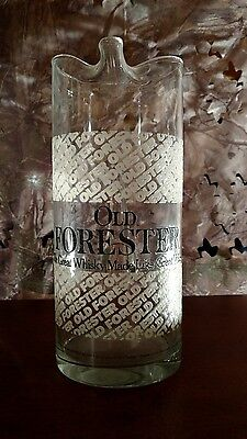 Vintage Old Forester Whiskey Glass Pitcher