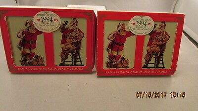 Collectible Limited Edition 1994 2 Decks  Coca Cola  Playing Cards lot of 2
