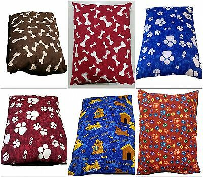 Large Dog Pet Bed Pillow Cushion Removable Washable Zipped Cover