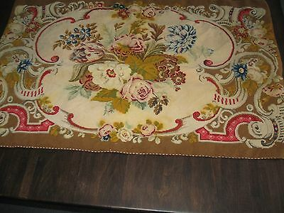 Beautiful vintage/retro floral tapestry.  (141)