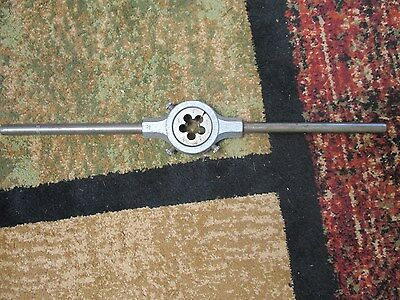 "2"" Round Die Holder 3 Screw Stock Handle Wrench with Die"