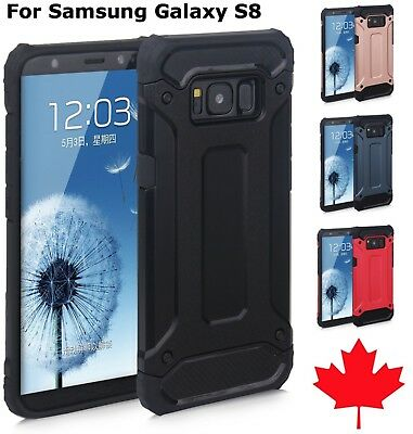 For Samsung Galaxy S8 / Plus Hybrid Dual Layer Shockproof Armour Tough Case