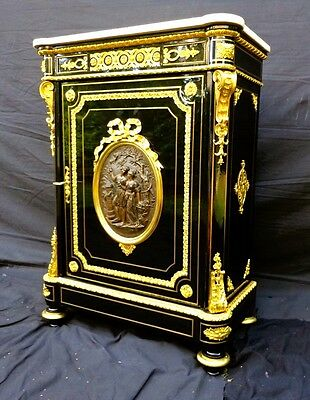 Magnificent Piece of furniture of Black support of time Napoleon III 19C.