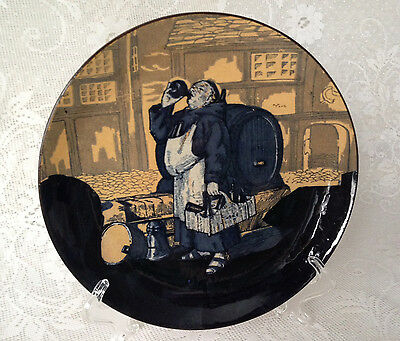 Antique Royal Doulton England Monk in Cellar plate signed (Charles) Noke