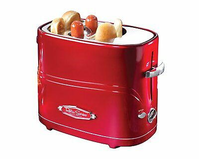Electric Hot Dog Toaster Sausage Grill Machine Retro Bun Bread Ham Burger Warmer