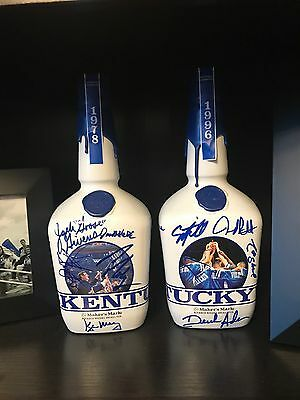 Kentucky Makers Mark Bottles Joe B Hall And Untouchables Signed