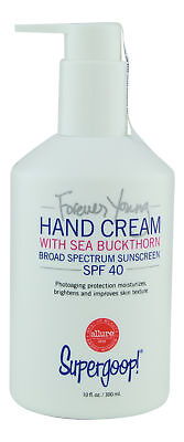 Supergoop Forever Young Hand Cream Sea Buckthorn SPF40 10 oz. Sealed Fresh